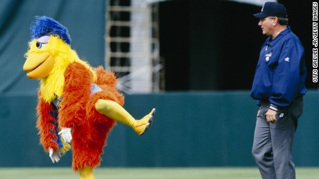 The San Diego Chicken first appeared in 1974 and paved the way for a generation of sports mascots.