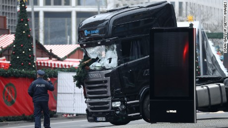 Truck crashes into Berlin Christmas market