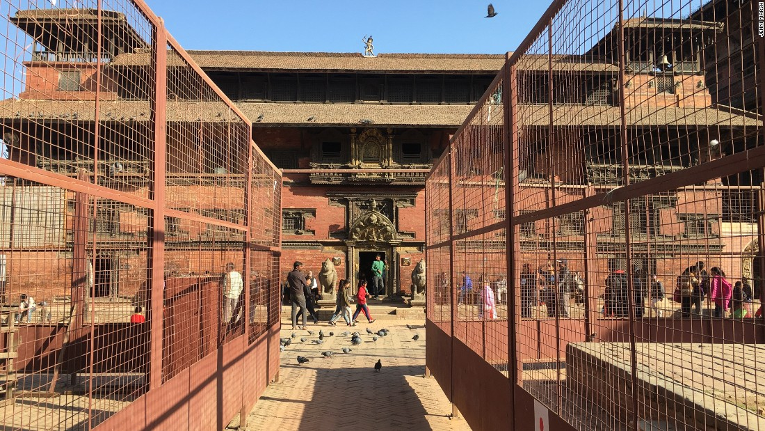 Scaffolding in Patan's Durbar Square gives the impression that work is underway. In reality, locals say that very little has been done in the way of restoration in the past 21 months.