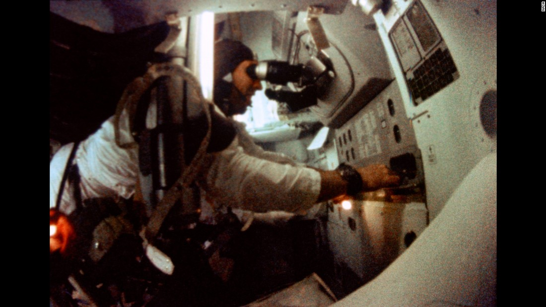 Lovell piloted the command module during the mission.