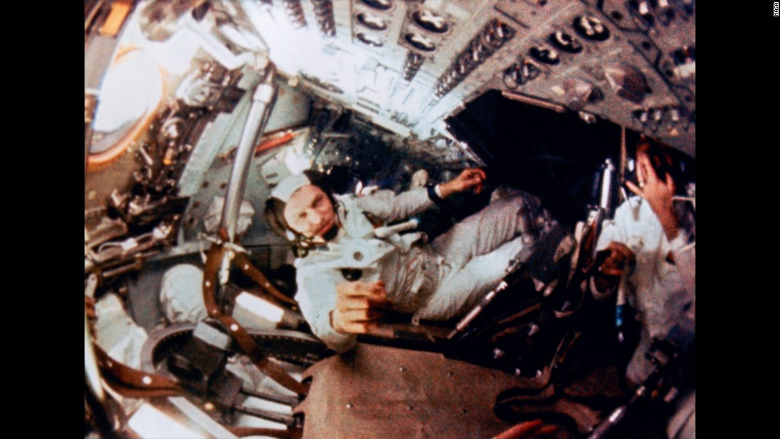 Borman, the mission's commander, had previously been in space with Lovell for the Gemini 7 mission. They spent nearly two weeks orbiting the Earth in 1965.