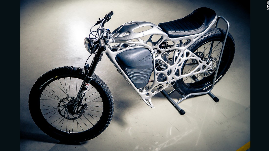 "<a href=""http://www.lightrider.apworks.de/en"" target=""_blank"">APWorks</a> described the 35-kilogram machine as ""probably the world's lightest motorcycle prototype,"" with a power-to-weight ratio ""equal to that of a supercar."""