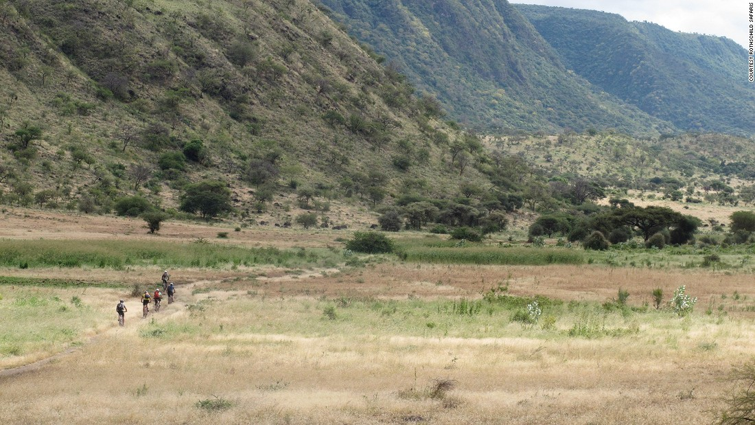 Combining a Tanzanian safari with an epic off-road bike ride is the ultimate New Year fitness kick. For those after extra exercise, Rothschild Safaris also organizes hikes to the Empaki Crater.