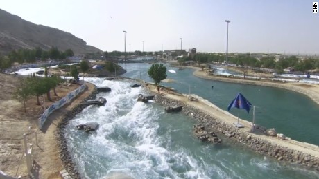 The 480-meter artificial river at the Al Ain's Wadi Adventure theme park.