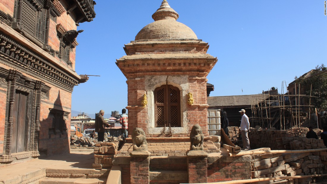 One of the monuments in Bhaktapur which survived the earthquake.