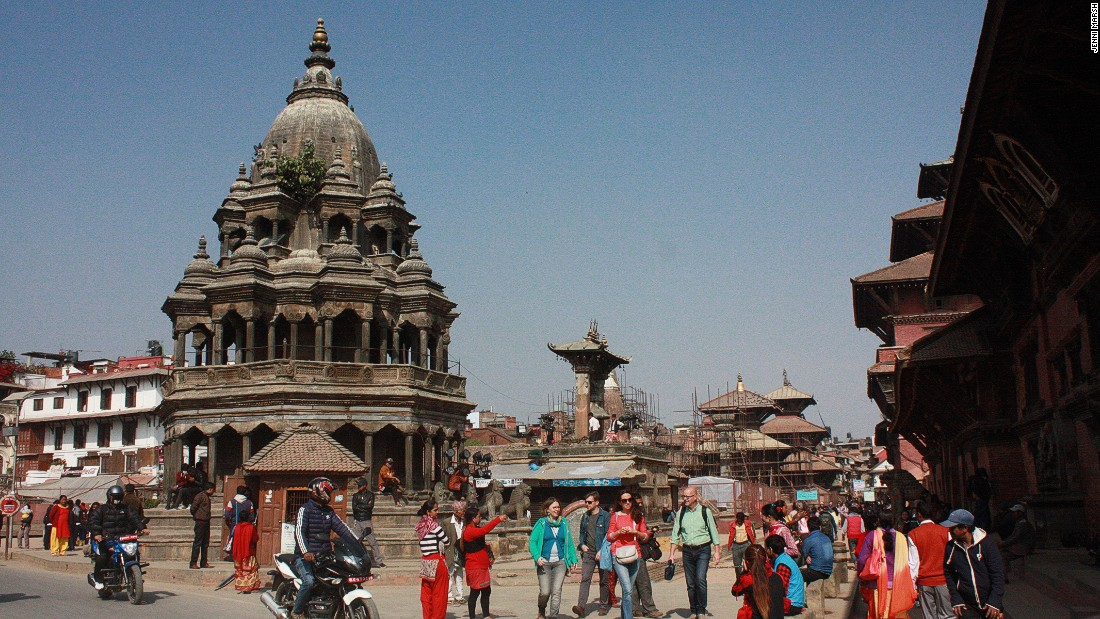 Many of Patan's palaces and temples did escape the earthquake unscathed.