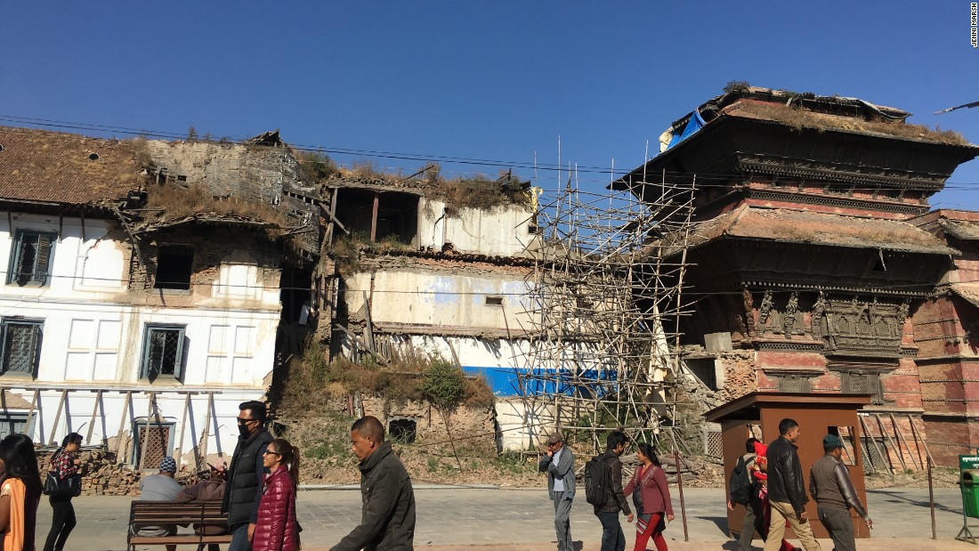Kathmamdu's Durbar Square appears tired and rundown, with few renovations having taken place since 2015.
