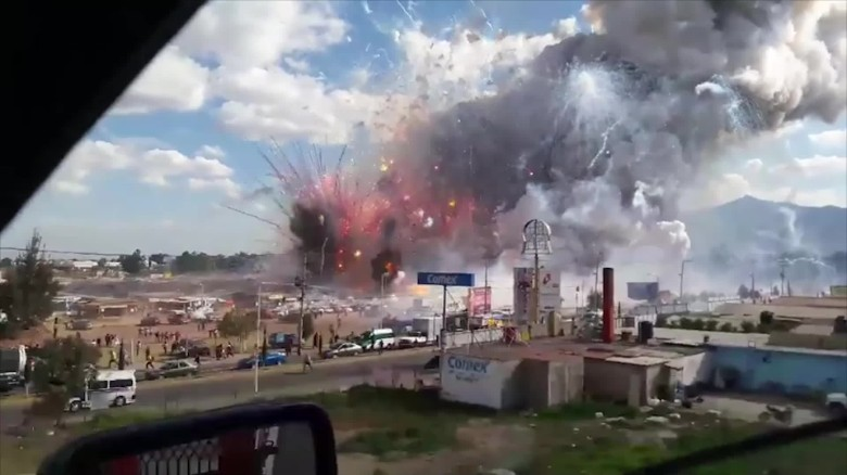 Fireworks market explosion in San Pablito, Mexico, 'leaves 70 people injured'