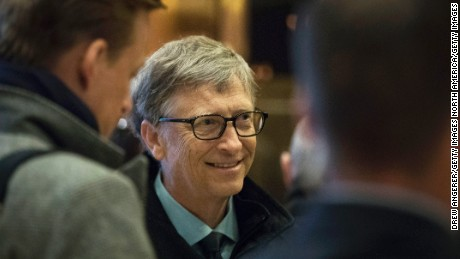 NEW YORK, NY - DECEMBER 13: Businessman Bill Gates arrives at Trump Tower, December 13, 2016 in New York City. President-elect Donald Trump and his transition team are in the process of filling cabinet and other high level positions for the new administration. (Photo by Drew Angerer/Getty Images)