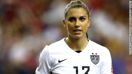 MONTREAL, QC - JUNE 30:  Alex Morgan #13 of the United States looks on in the first half against Germany in the FIFA Women's World Cup 2015 Semi-Final Match at Olympic Stadium on June 30, 2015 in Montreal, Canada.  (Photo by Elsa/Getty Images)