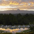Kenya bars Zebar at Mt Kenya Safari Club - view of the Swimming_Pool and Mt_Kenya. Photo courtesy Fairmont Hotels