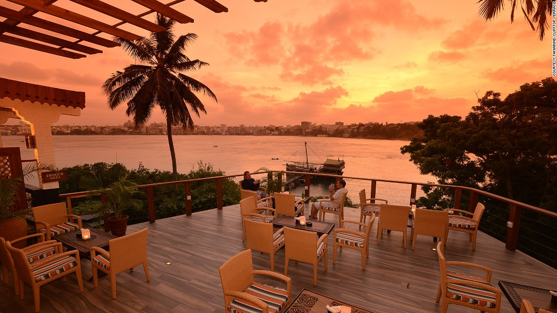<strong>Tamarind Clifftop Terrace (Mombasa): </strong>Talking about bars with amazing views -- Tamarind Clifftop Terrace serves up panoramas of the Old Town on the far side of Mombasa Creek, as well as some pretty good grub and libations.