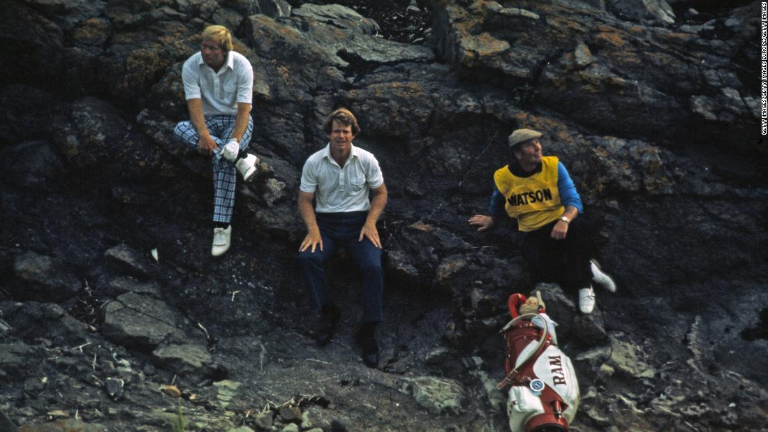 By  the summer of 1977 Nicklaus was on 14 majors but hadn't won one for two years. At the British Open at Turnberry he and reigning Masters champion Tom Watson were forced to take shelter from a storm on the third day before both shooting 65s to rocket clear of the field.