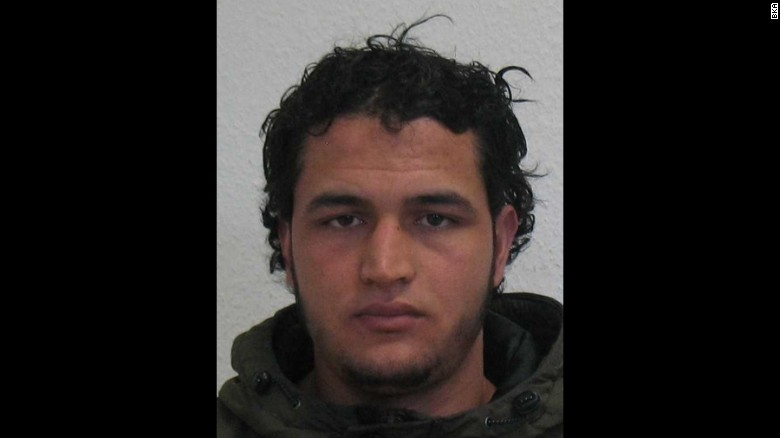Authorities say they're looking for Anis Amri in connection with Monday's market attack in Berlin.