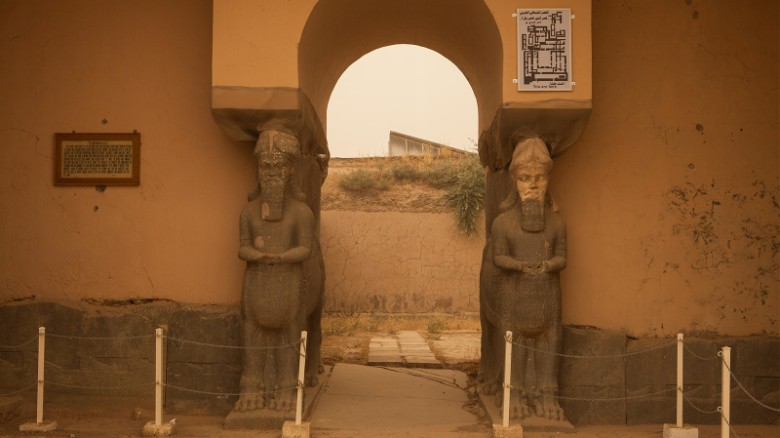 <strong>Nimrud, Iraq: </strong>The capital of Nimrud, the world's first empire, was once a formidable city with massive palaces and temples to gods of war and writing. Ivory furniture, carved stone slabs, gold jewelry and crowns were all buried inside.