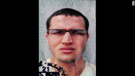 This is one of at least three photos of  Anis Amri that Germany authorities released.