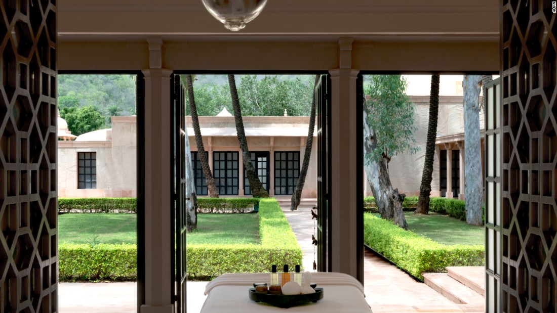 The latest in the Aman Wellness portfolio is found at lush Mughal-inspired Amanbagh in India's Aravalli Hills. The resort hosts retreats revolving around anti-aging and preventive medicine.