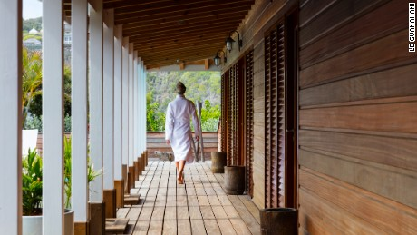 Boutique resort Le Guanahani offers a restorative Spa by Clarins.