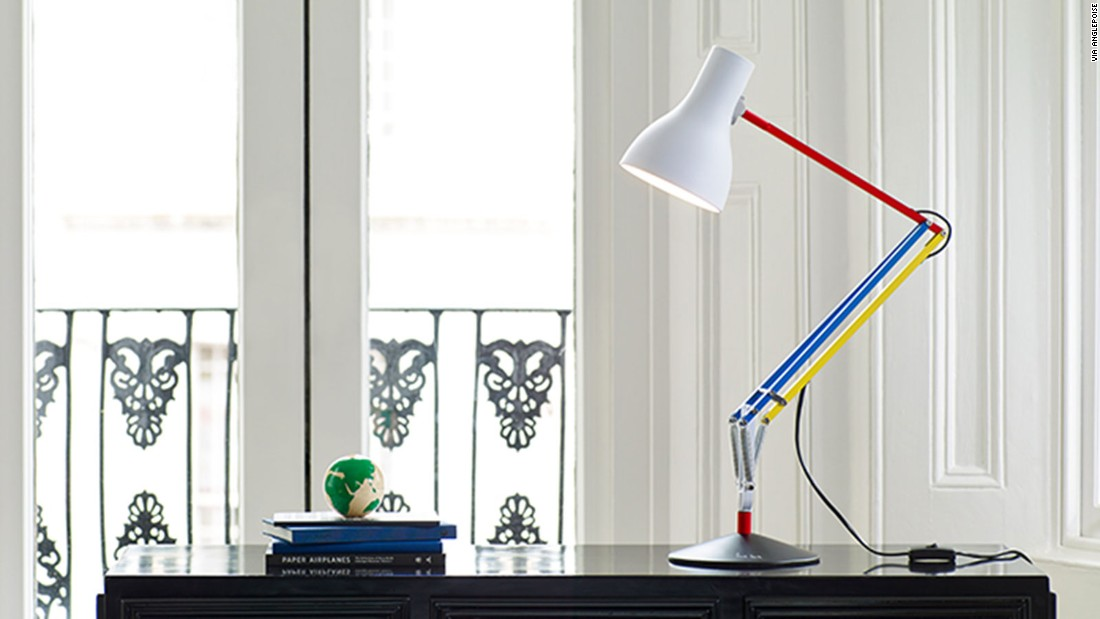 British designer Paul Smith teamed up with lamp-makers Anglepoise on a new version of the brand's signature Type75™ table lamp. This is the third time Anglepoise and Paul Smith have collaborated on a product. The two previous editions also feature bright color combinations along the arms. It is currently listed on Anglepoise's website for $24,162.