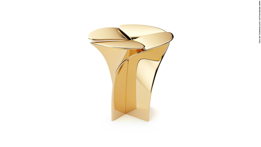 Luxury fashion house Louis Vuitton exhibited objects at this year's Design Miami, made with the world's top designers. This Blossom Stool was designed by Tokujin Yoshioka.