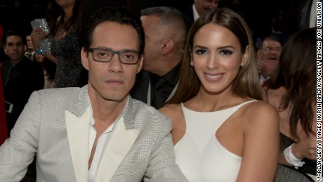 MIAMI, FL - FEBRUARY 19: Marc Anthony and Shannon De Lima attends the 2015 Premios Lo Nuestros Awards at American Airlines Arena on February 19, 2015 in Miami, Florida.  (Photo by Rodrigo Varela/Getty Images For Univision)
