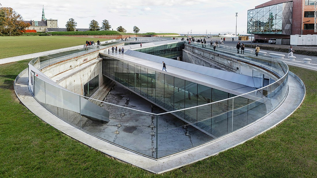 A team of architects, headed by Bjarke Ingels and David Zahle, placed the design of the Danish National Maritime Museum underground to preserve the 60-year-old dock walls, creating an open view for visitors.