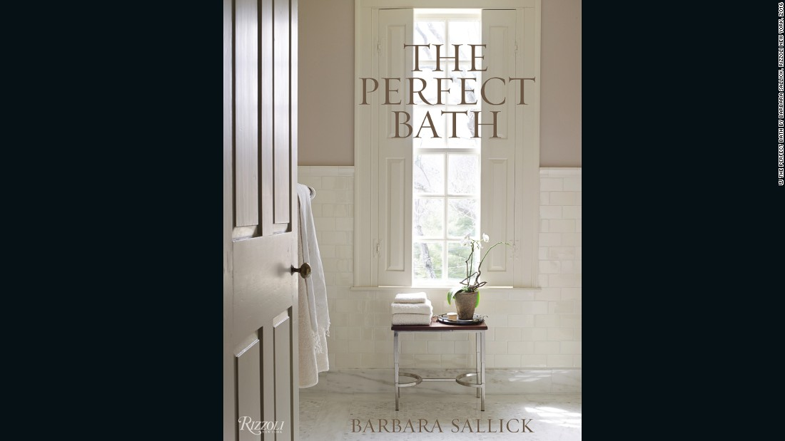 "Sallick's personal preference has led her to the classic end of the color spectrum: ""My own bath eloquently conveys my love of white,"" she says."