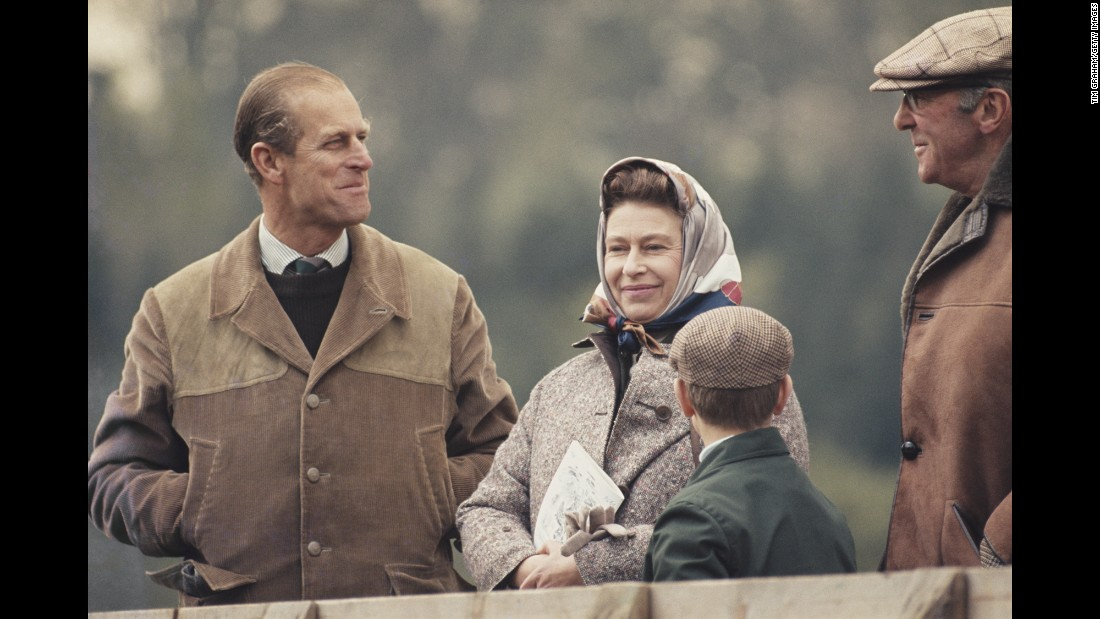 The Queen and Prince Philip attend the Royal Windsor Horse Show in April 1976.