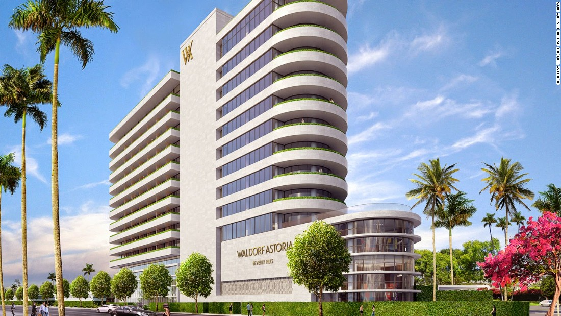 <strong>Waldorf Astoria, Beverly Hills, California: </strong>In the heart of Beverly Hills, this 12-story Art Deco hotel will feature a 5,000 square foot spa by La Prairie and a restaurant by Michelin-star chef Jean-Georges Vongerichten.