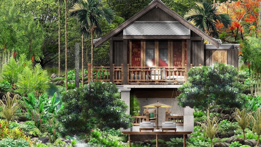 <strong>Rosewood Luang Prabang:</strong> Rosewood Luang Prabang is tucked amidst thick forest complete with a river and waterfall.There's a handful of villas (including ones with private pools), but the 100 sqm luxury tents, with wraparound decks, are pretty spectacular.