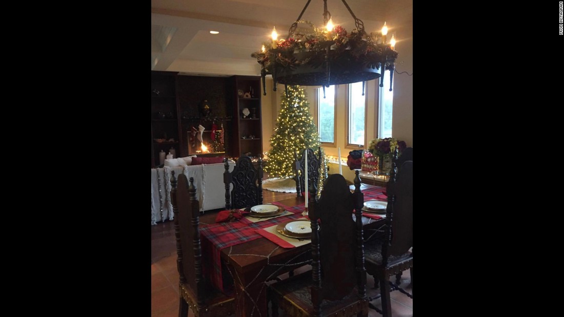 Vanessa Hudgens shared a peak inside her kitchen with a table already set for a holiday dinner.