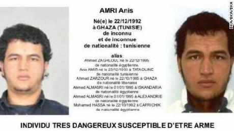 Anis Amri's arrest warrant