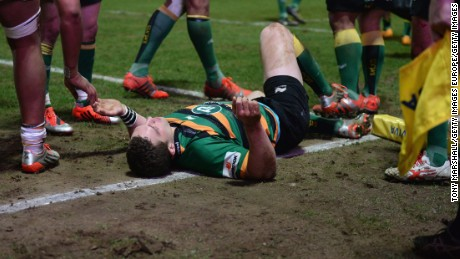 George North was knocked unconscious in a 2015 Premiership match against Wasps