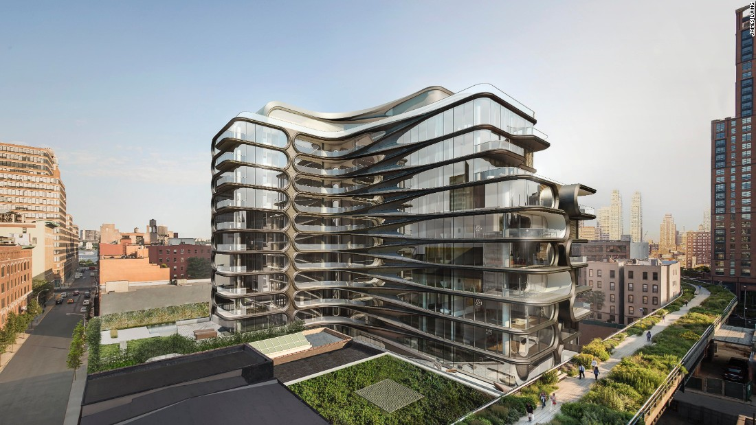 The 11-story residential building was designed by Pritzker Prize-winning architect Zaha Hadid.