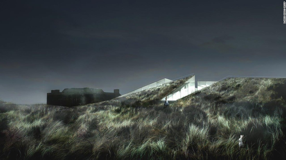 Bjarke Ingels Group is always up to something interesting, and 2017 will be another big year for the group. The architects plan to debut the Blåvand Bunker Museum in Varde, Denmark. The name is fitting, seeing as the building is literally integrated into the side of a German military embankment and surrounded by rolling hills.