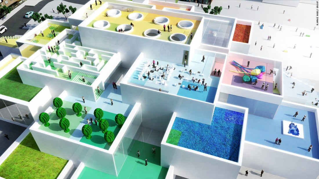 Another architectural marvel from Bjarke Ingels Group (BIG), the LEGO House team set out to design a building based on the possibilities of the beloved building blocks. The one-of-a-kind building used extra-large LEGO-inspired bricks for the foundation, and created interlocking levels in a modular design.