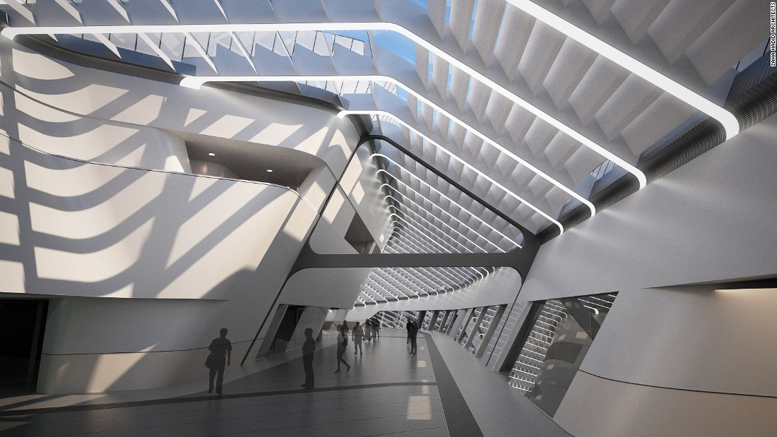 Aiming to be more than just a train station, the design incorporates public spaces, promenades, soothing interiors and lots of natural light. First unveiled in 2003, the train station will have taken nearly 15 years to complete due to several delays.