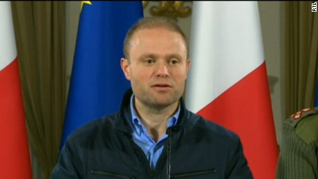 The Maltese Prime Minister Joseph Muscat gives updates on the plane hijack