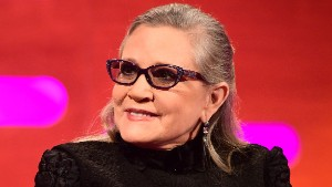 Carrie Fisher during the filming of the Graham Norton Show at The London Studios, south London, to be aired on BBC One on Friday evening. (Photo by Ian West/PA Images via Getty Images)