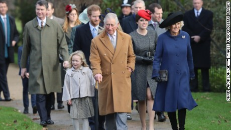 Prince Charles was accompanied by the Duchess of Cornwall and his son, Prince Harry.