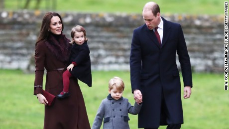 Prince William and the Duchess of Cambridge wre in Berkshire with their two children.