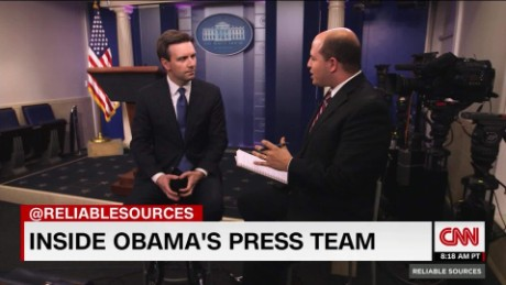 Press secretary Josh Earnest's advice for his successor Sean Spicer_00020506
