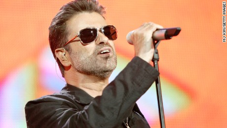 "LONDON - JULY 02:  Singer George Michael performs on stage at ""Live 8 London"" in Hyde Park on July 2, 2005 in London, England.  The free concert is one of ten simultaneous international gigs including Philadelphia, Berlin, Rome, Paris, Barrie, Tokyo, Cornwall, Moscow and Johannesburg. The concerts precede the G8 summit (July 6-8) to raising awareness for MAKEpovertyHISTORY.  (Photo by MJ Kim/Getty Images)"