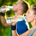 exercise drinking water STOCK