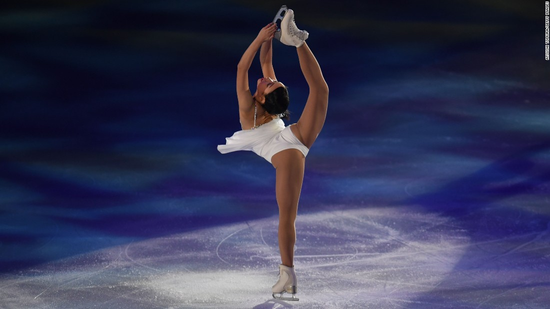 Mai Mihara performs her routine at the Japan Figure Skating Championships in Kadoma, Japan, on Monday.