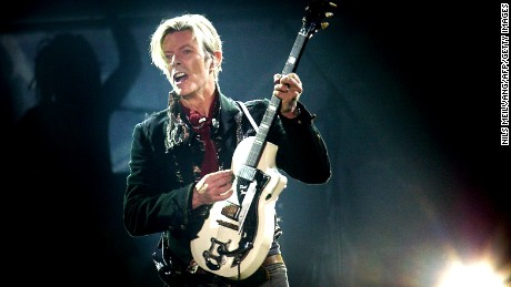 Rock legend David Bowie performs on stage at the Forum in Copenhagen late 07 October 2003. == DENMARK OUT == AFP PHOTO NILS MEILVANG/SCANPIX NORDFOTO (Photo credit should read NILS MEILVANG/AFP/Getty Images)