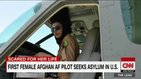 first female Afghan pilot seeks asylum in U.S. the lead jake tapper_00002908.jpg