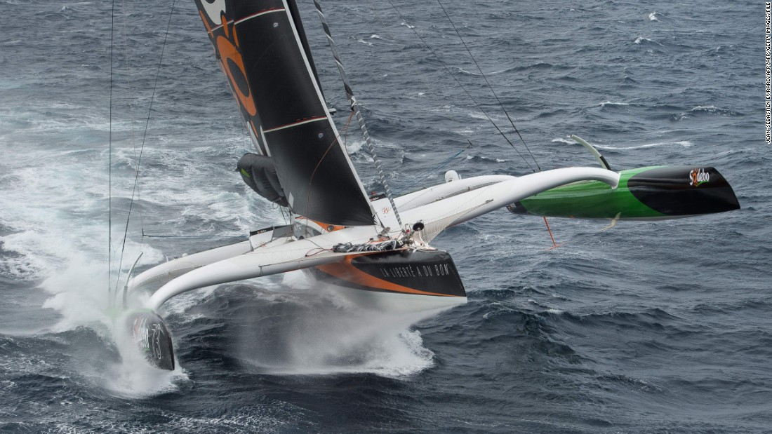 Making his fifth attempt at the record, he completed the journey in just 49 days, three hours, seven minutes and 38 seconds. The record had stood since 2008, when French skipper Francis Joyon clocked 57 days, 13 hours, 34 minutes and six seconds.