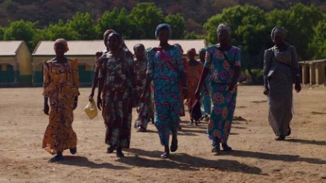 Freed Chibok girls return home for Christmas