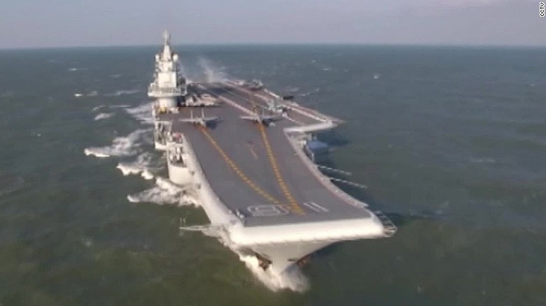 Taiwan says Chinese aircraft carrier passes south of island